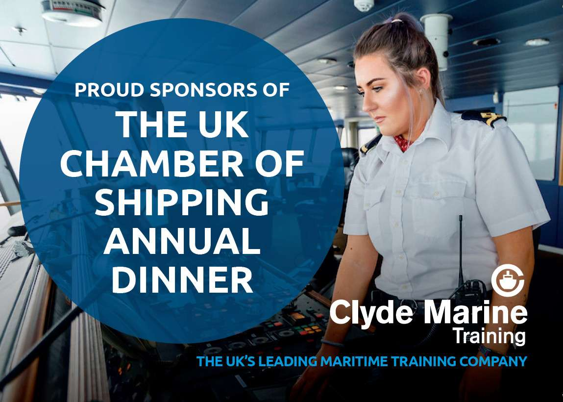 Clyde Marine Training Sponsors of UK Chamber of Shipping Annual Dinner 2018