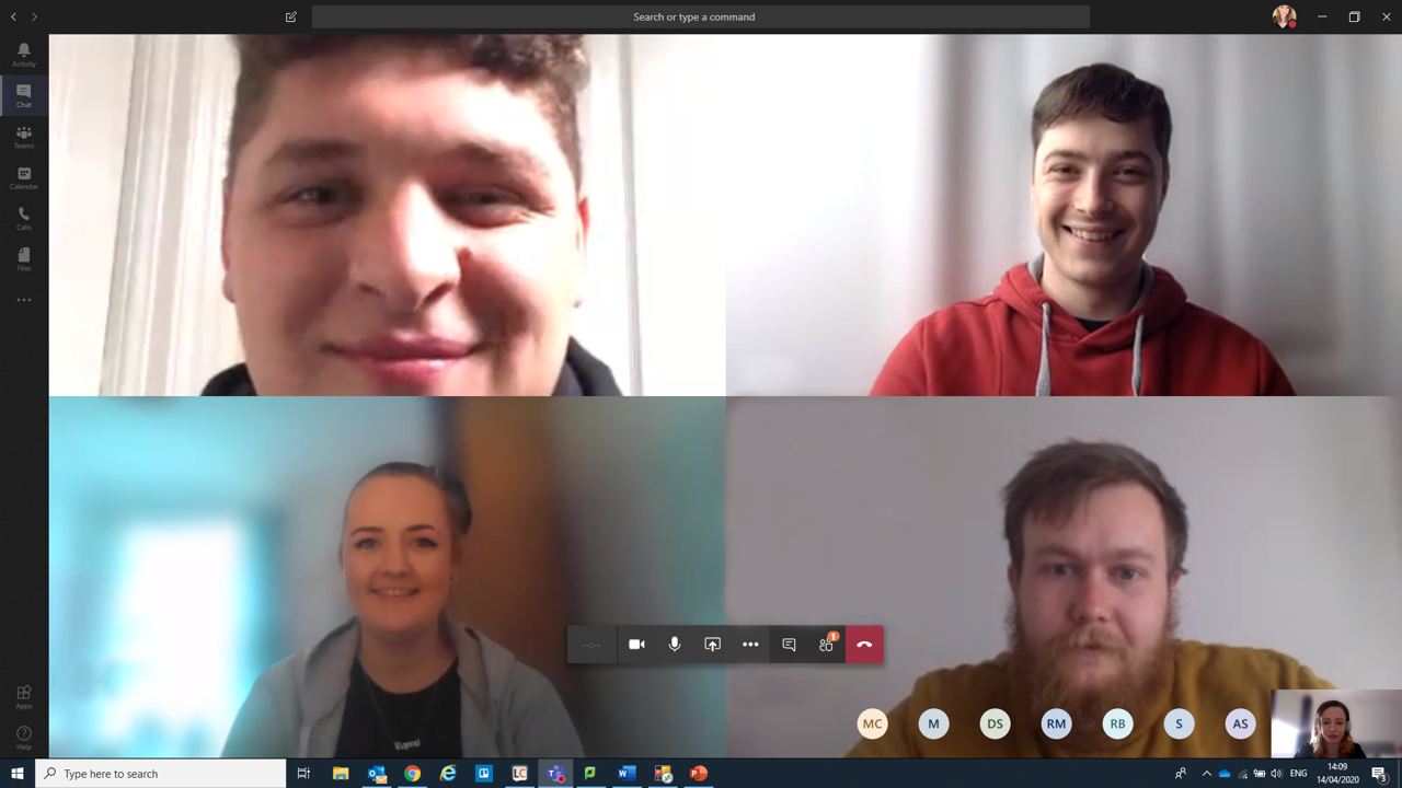 CMT Microsoft Teams Call with Cadets