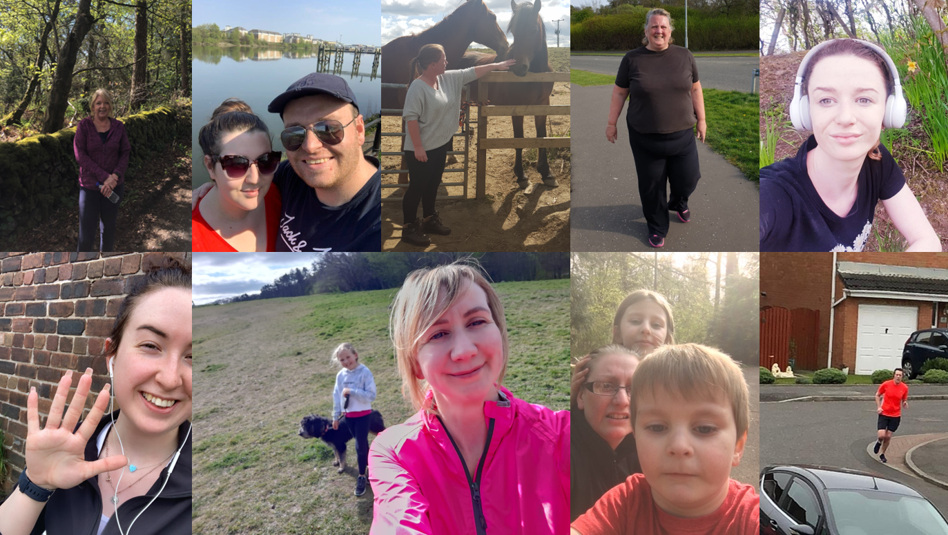 Montage of CMT staff completing Run For Heroes 5k Challenge